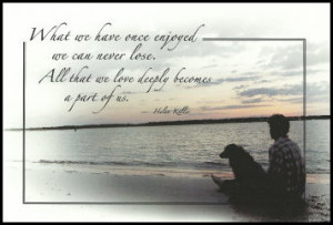... sympathy card pet sympathy card loss of pet hel en keller quote pet
