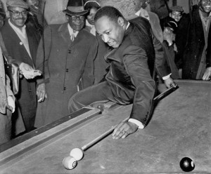 martin luther king playing pool