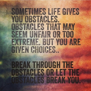 Obstacles - quotes Photo