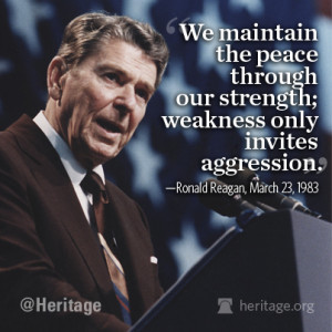 Reagan peace through strength Quote