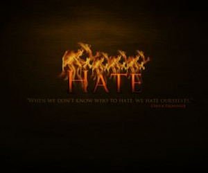 hate words in flame quotes HD Wallpaper of Art & Fantasy