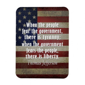 Thomas Jefferson Quote on Liberty and Tyranny Magnets