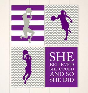 Girls wall art, basketball wall art, girls room decor, basketball pla ...