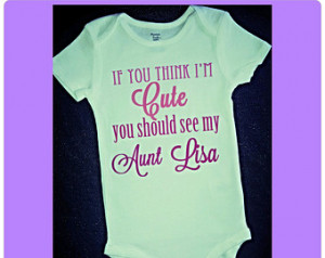 Aunt T Shirts, Baby Bodysuit, Romper, Onsie, Aunt Gift, Gift for Niece ...