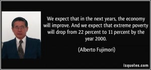 ... extreme poverty will drop from 22 percent to 11 percent by the year