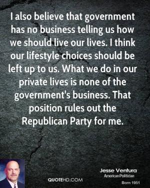 Jesse Ventura Government Quotes
