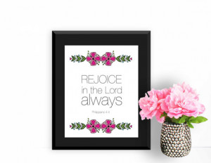 Wall Art Print Quote: Rejoice In The Lord Always