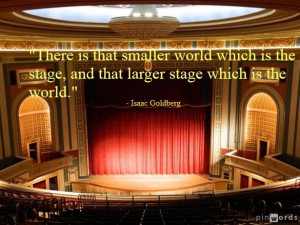 ... larger stage which is the world.
