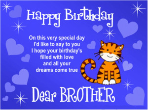 Happy Birthday Big Brother Quotes Quotes... happy birthday