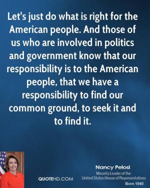 Nancy Pelosi Politics Quotes