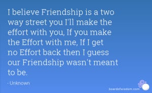 Is a Two Way Street Friendship