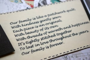 ... quotes. And I found this cute little poem about family being like a