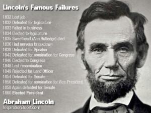 Lincolns Famous Failures