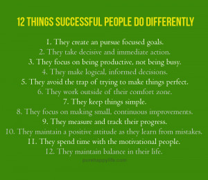 Success Quote: 12 things successful people do differently…