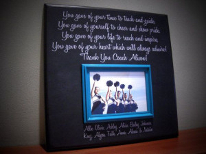 Coach Picture Frame Gift, Sisters, Sports, Dance Team, Gymnastics ...