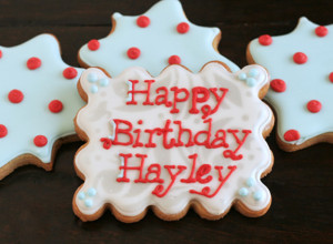 Happy Birthday Decorated Cookies