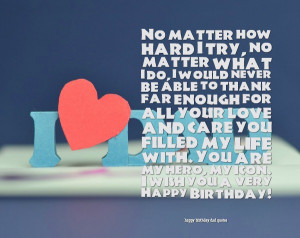 happy birthday dad from son quotes