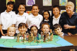 ... . Kieran School in San Diego did to show the Cherokee Trail of Tears