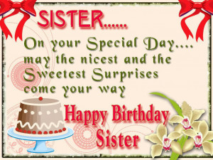Happy Birthday Wishes for Sister Printable