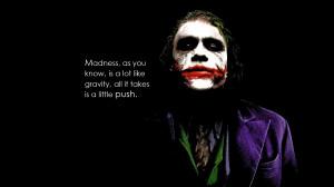 Joker quote from the dark knight