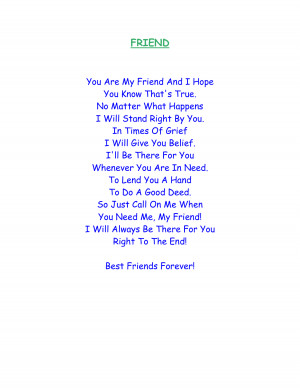 Friendship Poems That Rhyme And Make You Cry Friend poems that make ...