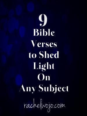 bible verses on light