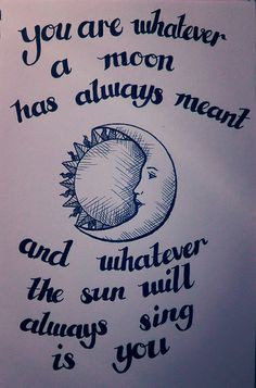cummings sun moon illustration quotation my own design more sun moon ...