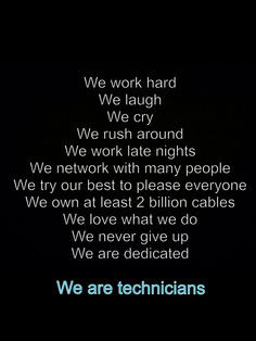 Techies. More