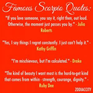 Famous scorpio quotes