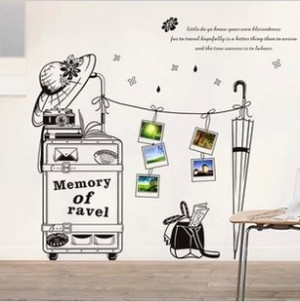 Life Quotes Rain journey Wall Sticker phone frame Wall Decals New ...