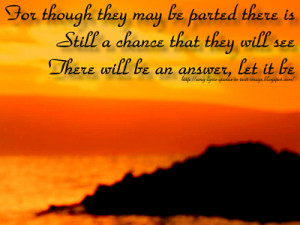 Let It Be - Beatles Song Lyric Quote in Text Image