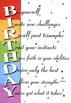 wishes, birthday wishes,abilities, challenges, triumphs, strengths ...