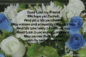 Good Luck my FriendWe hope