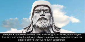 Did You Know That Genghis Khan Not Only Exempted The Poor And Clergy ...