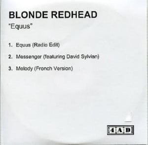 Blonde Redhead Equus - 3-track - Featuring David Sylvian UK Promo CD-R ...