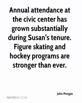 Annual attendance at the civic center has grown substantially during ...