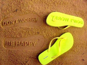 ... be happy neon yellow neon lbd don't worry quote on it sea sand beach