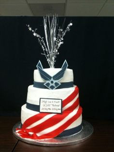 Air Force Retirment Cake By marciboden on CakeCentral.com More