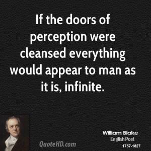 William Blake Doors Of Perception Quote
