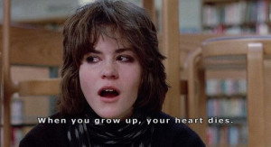 Breakfast Club quote by Ally Sheedy -- one of the most powerful ones ...