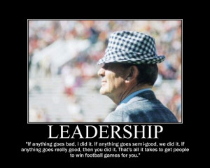 Paul Bear Bryant Football Quotes