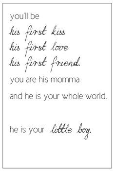 Comparing a mother's love for her son with that love he might develop ...