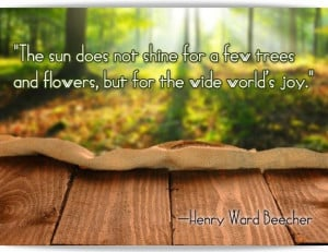 nature quote by henry beecher