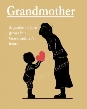Grandmother Mother's Day Poem Grandma Bubbie Yiayia Nanny Nana Black ...