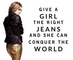 Golden DL1961 jeans & quote.
