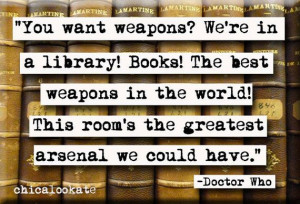 Doctor Who Library Quote Magnet or Pocket Mirror (no.364) via Etsy