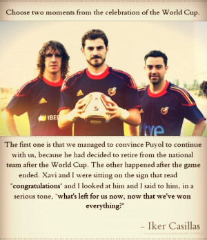 … his top 2 WC celebration moments had to do with Xavi and Puyol ...