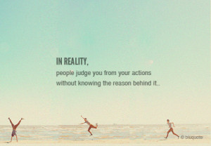 People Judge You From Your Actions