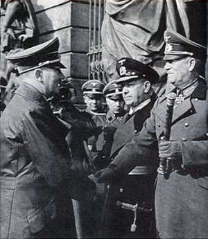 ... Raeder, and Field Marshal Wilhelm Keitel (right) in March,1942