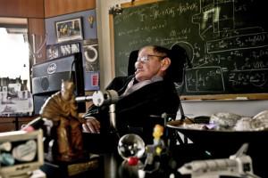 astrophysicien britannique Stephen Hawking dans son bureau de l ...